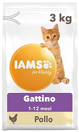 IAMS for Vitality Cibo Secco con Pollo Fresco Specifico per Gattini, 3 kg