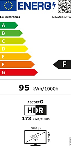 LG 65NANO869PA, 4K Ultra HD, LED, TV, [65 Zoll] - Schwarz