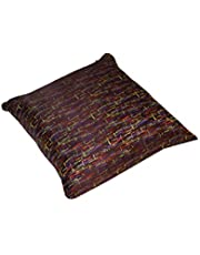 iBed home Decorative Cushion 500 Grams Size 45x45 cm, SATIN SILK-03, Poly Viscose, Brown