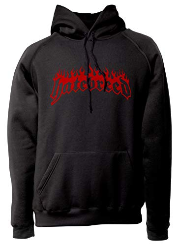 LaMAGLIERIA Unisex-Hoodie Hatebreed - Cod.02 - Kapuzenpullover Metalcore Hardcore Rock Band, M, Schwarz