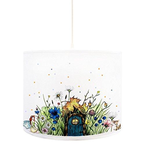ilka parey wandtattoo-welt® D71b Lampe de Plafond Motif fée et Pois Bleu/Orange