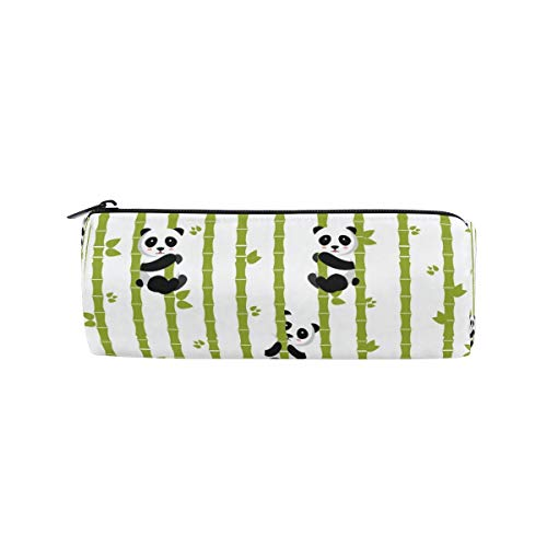 SunsetTrip Pencil Case Funny Panda Bamboo Tree Round Pencil Bag Zipper Stationery Pouch Bag Cosmetic Pen Bag for School Teenage Girls Kids Boys Office