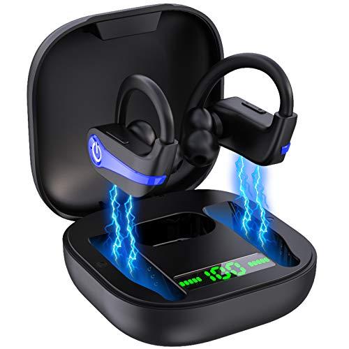 Lecover Bluetooth Kopfhörer Kabellos Bluetooth 5.1 Kopfhörer In Ear Sport Ohrhörer Wireless Kopfhörer, IP7 Wasserdicht 40H Spielzeit HiFi Bluetooth Headset mit Ladebox und Mikrofon, Auto Pairing