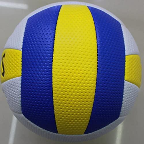 HYFDGV Voleibol al aire libre Voleibol tamaño 5, cuero suave interior al aire libre voleibol deportes equipo de entrenamiento para principiantes, adolescentes, voleibol adulto (color: 6)