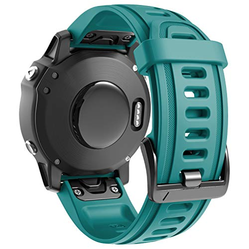 ANBEST Kompatibel mit Fenix 6S/Fenix 5S Armband Schnelle Veröffentlichung Sportarmband, Silikon Ersatzarmband für Garmin Fenix 5S Plus/Fenix 6S Pro/D2 Delta S(Rock Blau)