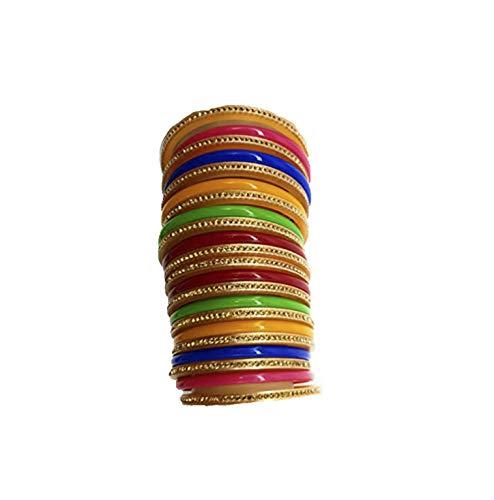 Bollywood sieraad kunststof armbanden armbandKada Bangle Multicolor geschenk bruiloft beschilderd boho knutselen cartier christ exclusieve Indiase hippie-multi, maat: 2,6 (6 cm)