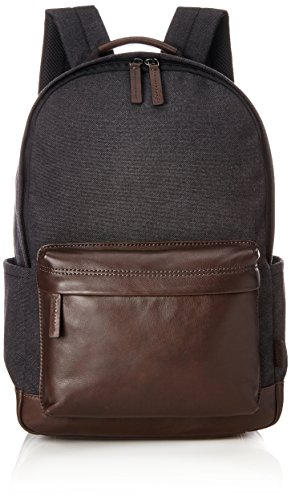 Fossil Herrentasche ? Buckner Rucksack, Men's Backpack, Black, 17.78x45.72x30.48 cm (B x H T)