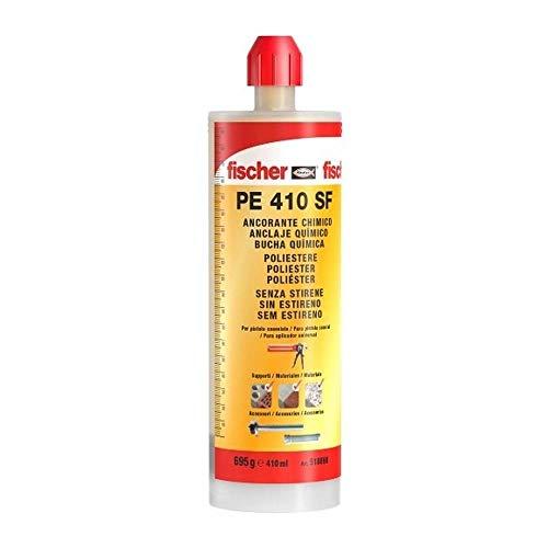 fischer | taco quimico ,resina poliester para fijar toldos, antena tv en hormigon, ladrillo hueco con varilla roscada (410ml)