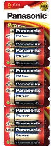 Panasonic Pro Power Gold LR20PPG Alkaline D Batterien, 6 Stück pro Packung (LR20, MN1300, AM1, R20)