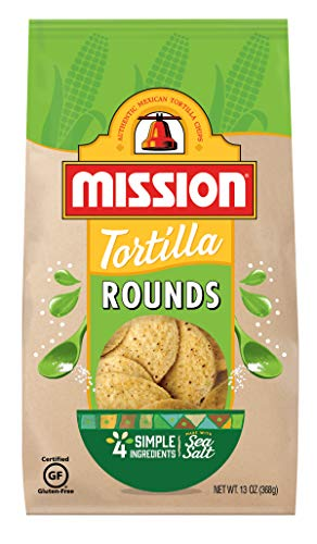 Mission Rounds Tortilla Chips | Gluten Free | Restaurant Style Corn Tortilla Chips | 13 oz