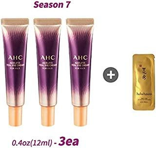 2019 A.H.C Season 7 AHC Ageless Real Eye Cream For Face 0.4oz(12ml) x 3ea + 1 sample