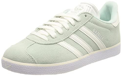 adidas Damen Gazelle Sneaker, Halo Mint/Core White/Silver Metallic, 40 2/3 EU