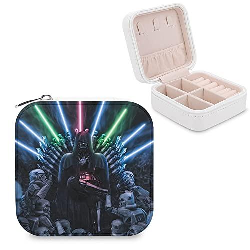 Star Wars Darth Vader Joyero de piel sintética de viaje portátil, para collar, pendientes, pulseras, anillos, relojes, caja de almacenamiento para mujeres