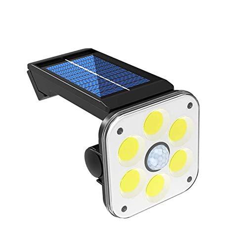 Magent Solarlampen für Außen, Aktualisierte Version-2400mAh, 54 COB Solarleuchte mit Bewegungsmelder Solar Beleuchtung COB Solar wasserdichte Wandleuchte 3 Modi Solarlicht für Garten
