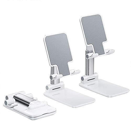Stands Soporte para teléfono móvil, soporte para tableta, plegable, ángulo ajustable y elevable, todos los dispositivos de menos de 12.9 pulgadas Ban Lu Yi (color: blanco perla).