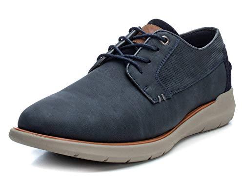 XTI - Zapatilla Oxford para Hombre - Cierre con Cordones - Color Azul - Talla 43