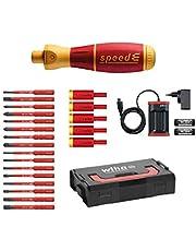 Wiha speedE® elektrisk skruvmejseluppsättning Set 25-tlg Red/Orange