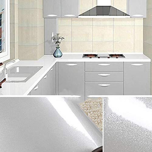 0.4x5M Kitchen Cabinet Waterproof Stickers Furniture Wardrobe Table Door Self Adhesive Wallpaper Solid Color Paint Wall Sticker