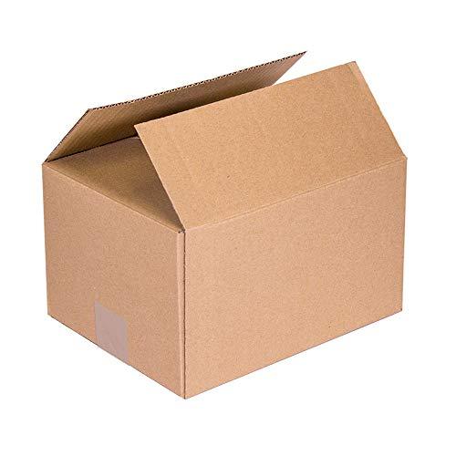 KARTOX | Cajas de Cartón | Canal Simple Reforzado | Caja almacenaje | Dimesiones: 40 x 30 x 20 | Caja con solapa | 20 Unidades