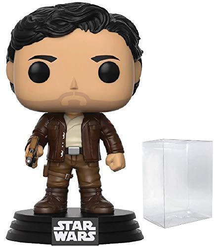 Funko Pop! Figura de Vinilo de PoE Dameron #192 de Star Wars: The Last Jedi (empaquetado con Funda Protectora de Caja desplegable)