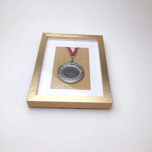 ZHXY Medal Display Box Medal Display Case Military/War/Sports Medal 3D Box Picture Frame Fits Four Medal - Black Frame With Black Mount Deep Box Frame To Display More Sizes,gold,silver,black,purple