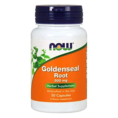 Goldenseal Root, 500 mg, 50 Caps by Now Foods (Pack of 3)
