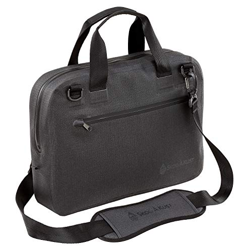 Skog Å Kust BriefSåk Pro 100% Waterproof & Airtight Messenger Bag | Black, 15