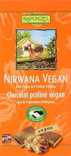Rapunzel - Bio Nirwana Schokolade mit Praliné-Füllung, vegan, 12er Pack (12 x 100g) - BIO