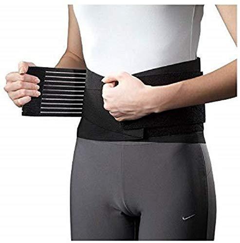 Fascia schiena elastica, fascia lombare,sollievo sciatica,ernia disco,taglia regolabile con elastico dalla S alla XL per...