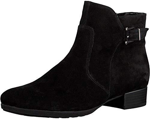 Gabor Damen Elegante Stiefeletten, Frauen Klassische Stiefelette,Comfort-Mehrweite, halbstiefel Bootie,schwarz (Flausch),36 EU / 3.5 UK