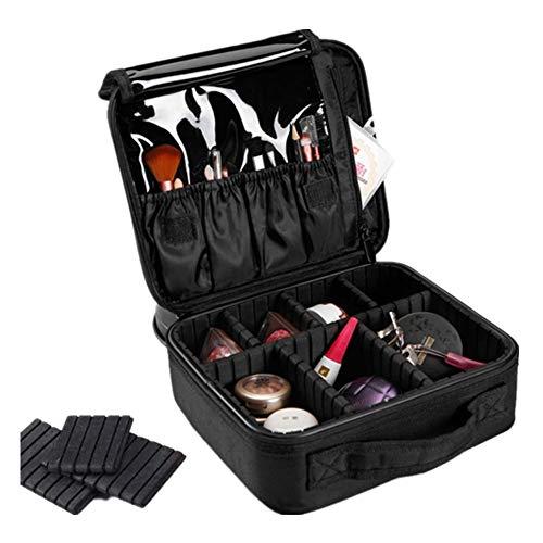 Make-up tas draagbare make-up trekdoos voor schoonheid make-up en voor meisjes vrouwen reizen en dagelijks bewaren met aluminium frame met sloten en opvouwbare containers voor zakenreizen en