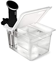 EVERIE Sous Vide Container 12 Quart EVC-12 with Collapsible Hinge Lid Compatible with Anova Cookers (Corner Mount) (Does Not Fit Nano or AN500-US00)