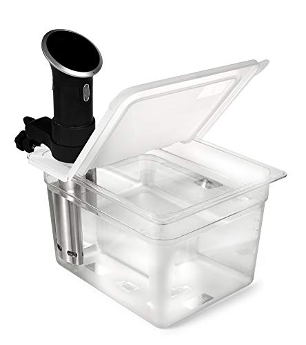 EVERIE Sous Vide Container 12 Quart EVC-12 with Collapsible Hinge Lid Compatible with Anova Cookers (Corner Mount) (Does...