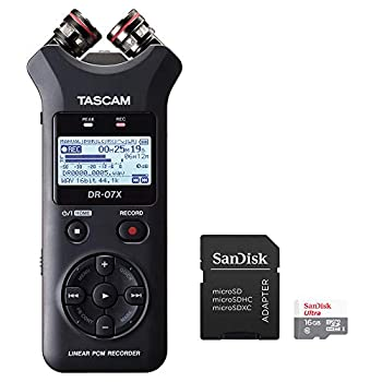 Tascam DR-07X 2-Input / 2-Track Portable Audio Recorder Bundled with 16GB microSDHC Card