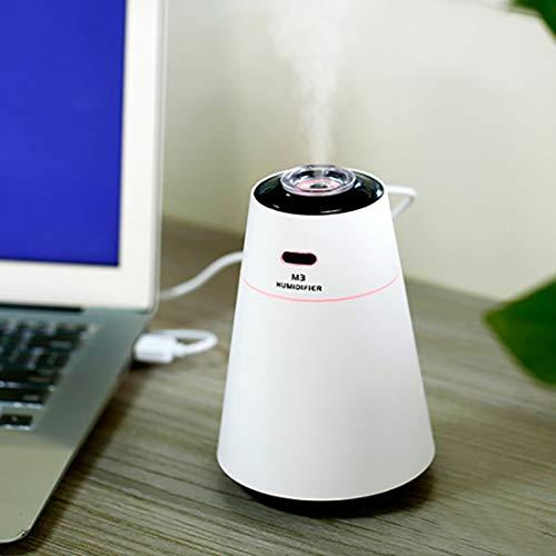 Hmg Humidificador de Aire de sobremesa portátil silencioso Creative con luz Nocturna, Capacidad: 200 ml, DC 5V (Color: tamaño múltiple: + Color) (Color : Multi)