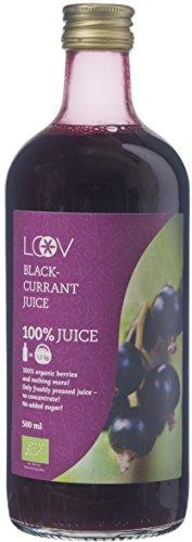 Jus de Cassis, Bio, 500 ml, 100% Jus, Contient des Flavonoïdes, Riche en Vitamine C, Sans Sucre Ajouté, Non Concentré, Sans eau Ajoutée, Sans Additif, Récolté en Europe du Nord
