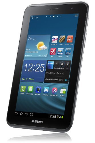 Samsung Galaxy Tab 2 P3110 WIFI Tablet 178 cm 7 Zoll Display 1GHz Prozessor 1GB RAM 16 GB Speicher 32 Megapixel Kamera Android titanium silber