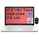 2021 Flagship HP 17 Laptop Computer 17.3' HD+ Touchscreen Display 10th Gen Intel Quad-Core i5-1035G1 (Beats i7-8550U) 16GB DDR4 1TB SSD DVD Webcam WiFi HDMI Win 10 + iCarp Wireless Mouse