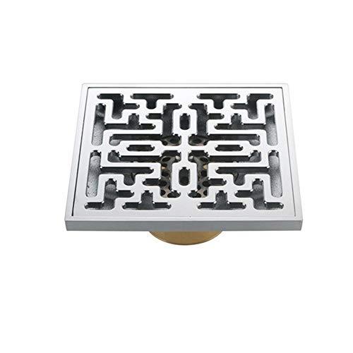 DYecHenG Bodenablauf Duschboden Square Kupfer Sink Ablauföffnung for Die Drain-Insekten Geruch Desodorierenden Küche, Bad, Garage (10 X 10 X 4 cm) für Badezimmer Toilette Küche