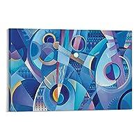 青いマンドリン プリント画 寝室装飾用絵画 リビングの装飾用絵画 壁掛け絵画 壁用絵画 玄関装飾用絵画 モダンでシンプルな装飾用絵画 壁掛け