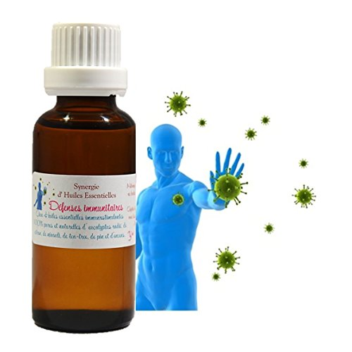 Synergie - Mélange D' Huiles Essentielles pour Diffusion Défenses Immunitaires (30ml)