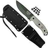 ESEE Authentic 5S-OD-E Tactical Survival Knife, Kydex Sheath w/Clip Plate