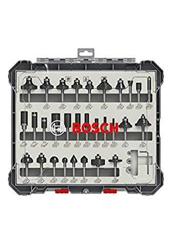 Bosch Professional 2607017476 Juego de 30 Fresas (para Madera, para fresadoras con vástago de 1/4 m)