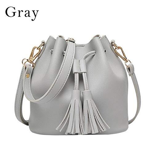 JXD Damen getäfelte Patchwork Kettenklappe Handtaschen Damen Taschen Damen Umhängetaschen, Grau 1