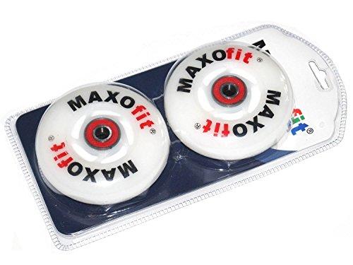 MAXOfit 2 x Waveboard Leuchtrollen, inklusive ABEC 7 Kugellager. Auch geeignet für viele andere Marken Waveboards