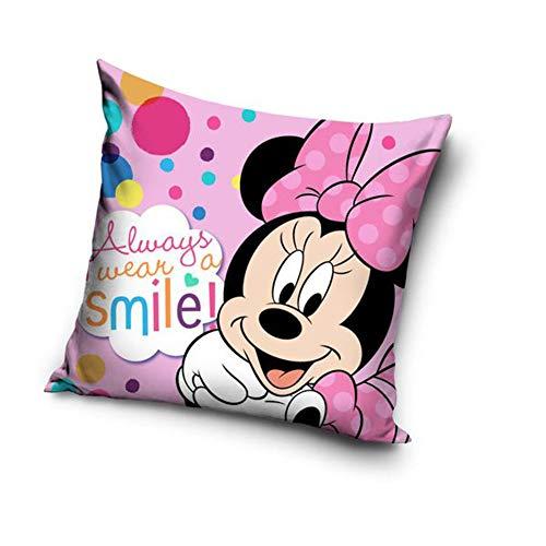 Une Mickey oder Minnie Maus Kissenhülle Kissenbezug 40x40 cm (Rosa 20714)