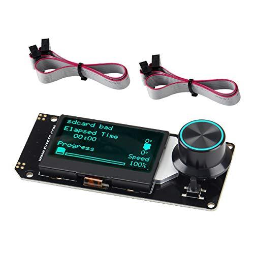BCZAMD Mini 12864 Smart Display LCD Smart Display Board 128x64 5V Supporta Marlin DIY con scheda SD Reprap Stampante 3D - Nero su Bianco Retroilluminazione