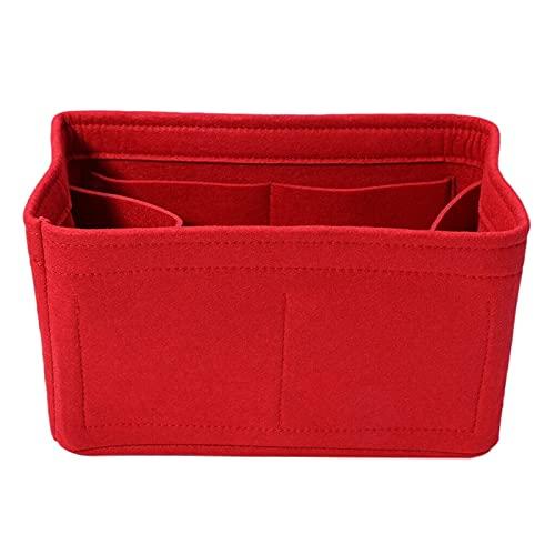 Bolsa De Almacenamiento Para El Hogar Bolsa De Inserción De Fieltro Organizador De Maquillaje Monedero Interior Bolsas De Cosméticos Portátiles Almacenamiento Red Storage-M