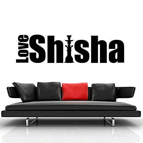 Wandaufkleber Shisha Zeichen Wandtattoo Aufkleber Shisha Hooka Schaufenster Abziehbilder Shisha Lounge Relax Bar Haus Dekor Home Schlafzimmer Abziehbilder 30x111cm