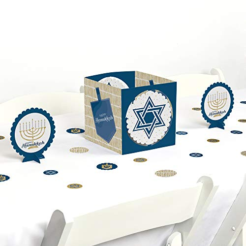 Big Dot of Happiness Happy Hanukkah - Chanukah Party Centerpiece and Table Decoration Kit